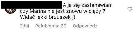 Komentarz na profilu Mariny Łuczenko-Szczęsnej