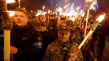 Ukraina: Ulicami Kijowa przeszedł marsz ku czci Stepana Bandery