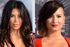 Kim Kardashian, Demi Lovato