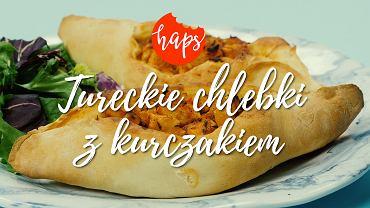 Tureckie chlebki z kurczakiem