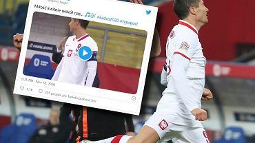 Robert Lewandowski w meczu z Holandią
