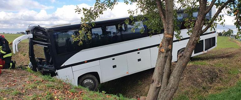 Autobus z przedszkolakami wylądował w rowie. 31 dzieci w szpitalach