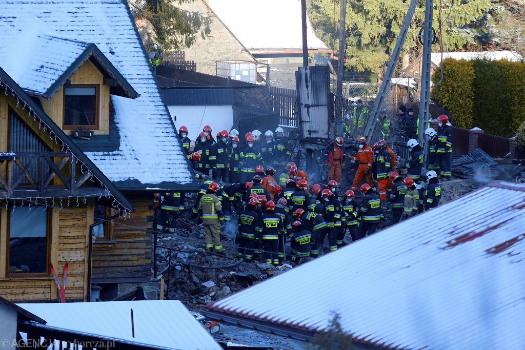 Wybuch gazu w budynku w Szczyrku
