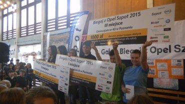 """Gala wręczenia nagród dla zwycięzców rankingu szkół cyklu """"Biegaj z Opel Szpot"""""""