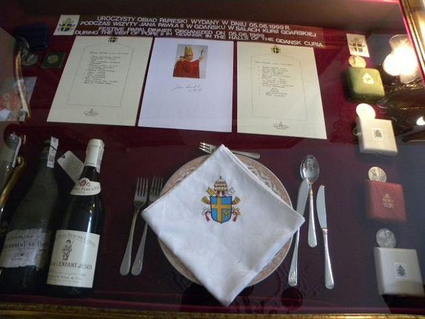 Sztućce którymi jadł papież Jan Paweł II
