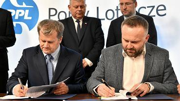 Podpisanie umowy z wykonawcami przebudowy lotniska w Radomiu