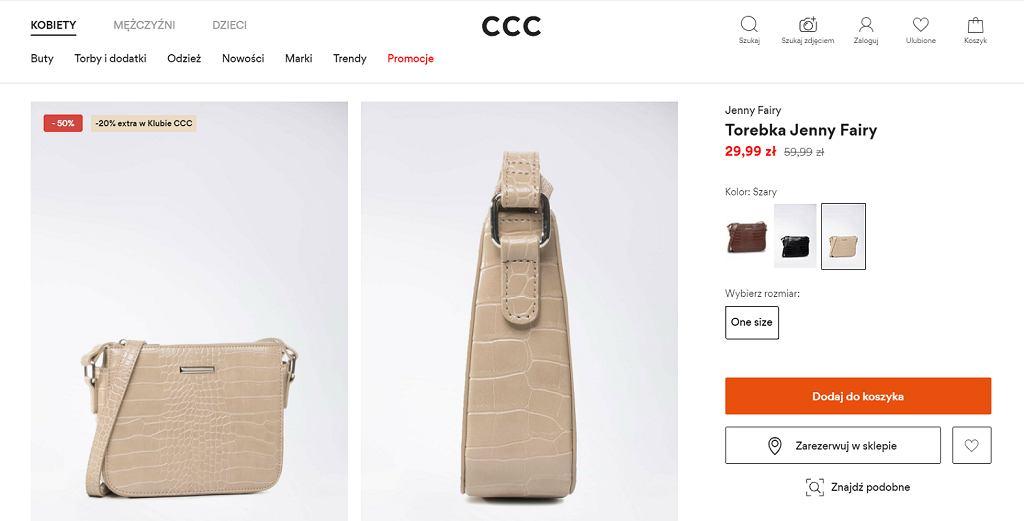 Ta torebka w ponadczasowy wzór uzupełni każdą stylizację!