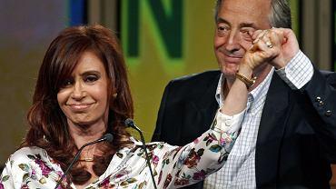 Była prezydent Argentyny Cristina Kirchner z mężem Nestorem
