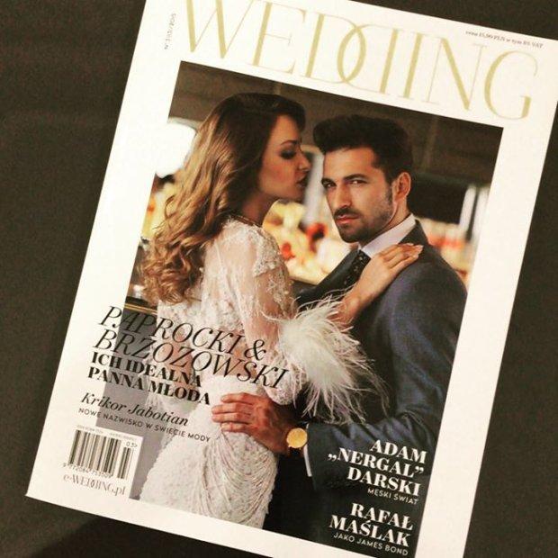 Suknia ślubna z nowej kolekcji Paprocki & Brozowski - na okładce magazynu