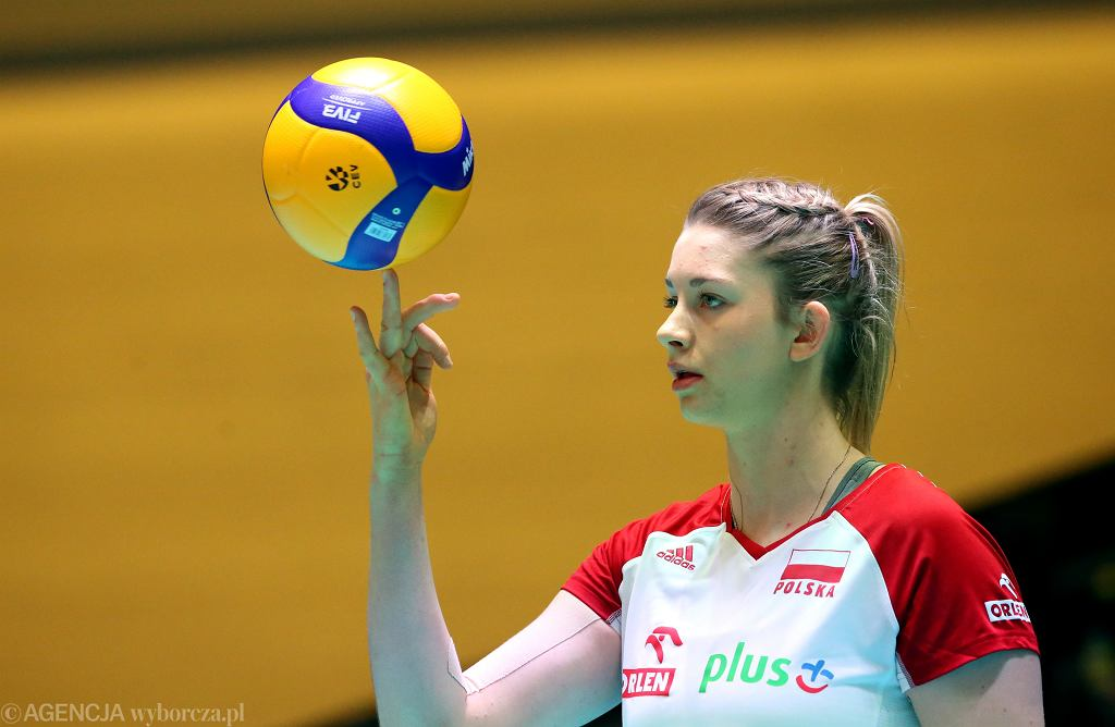 Magdalena Stysiak podczas meczu Polska - Turcja