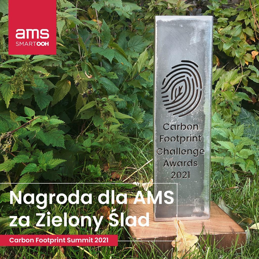 Spółka AMS znalazła się także w gronie laureatów Carbon Footprint Challenge Awards 2021, otrzymując nagrodę za Zielony Ślad