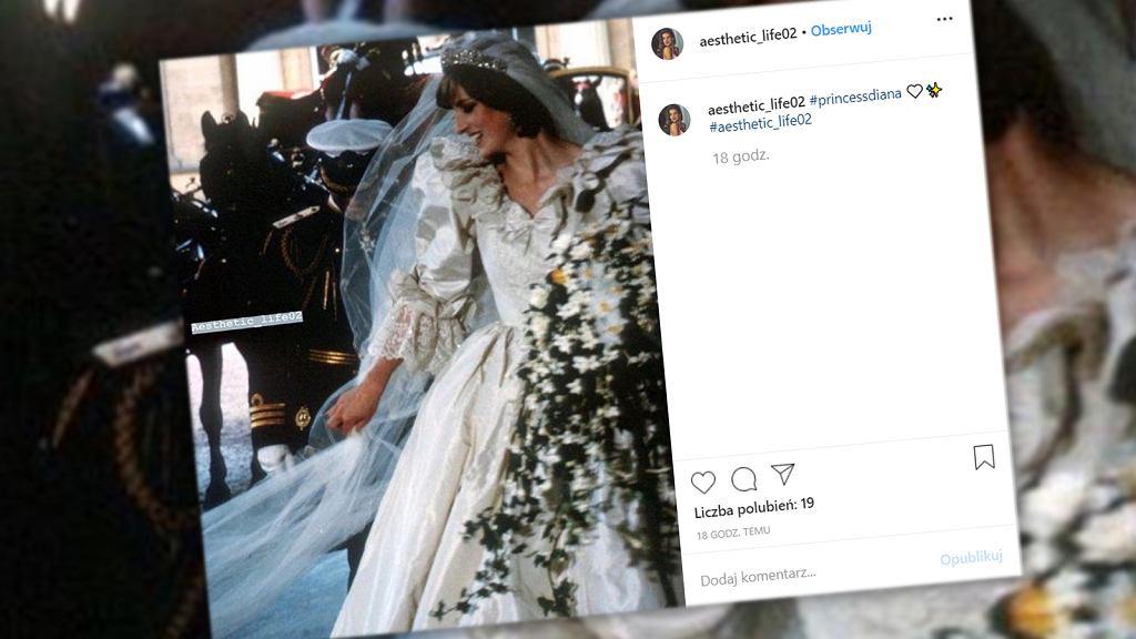 Kreacja ślubna księżnej Diany