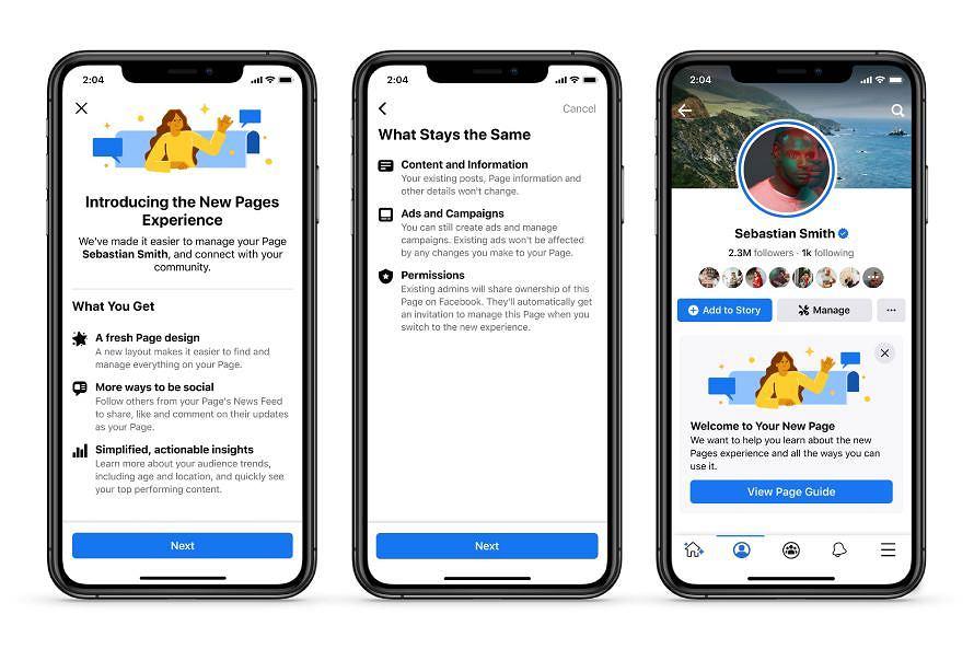 Facebook wprowadza przemodelowane Strony