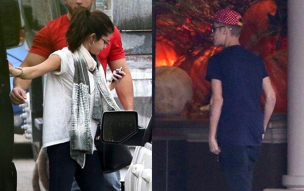 Selena Gomez, ustin Bieber.