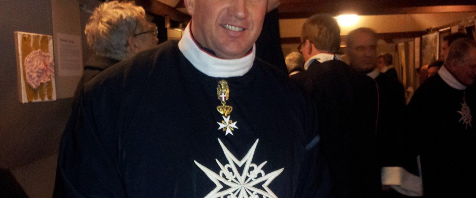 Jacek Tarnowski w stroju kawalera maltańskiego (fot. archiwum prywatne)