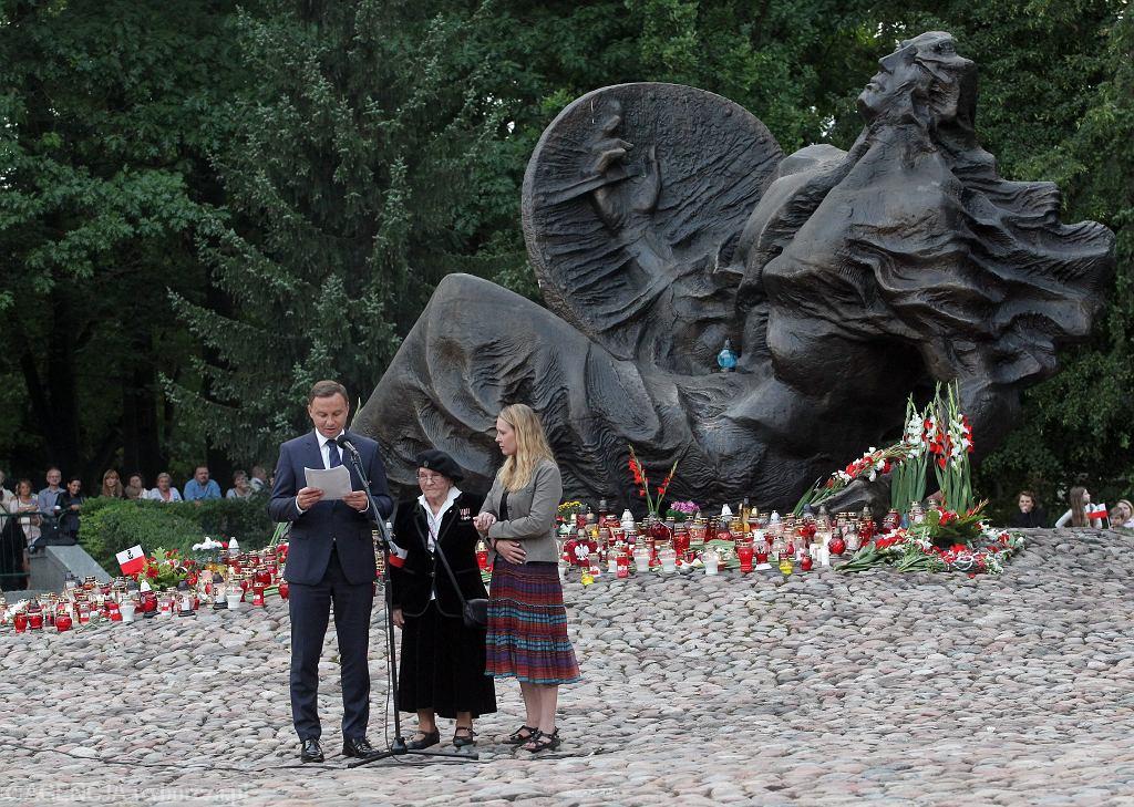 Prezydent Andrzej Duda podczas obchodów 72. Rocznicy Powstania Warszawskieg
