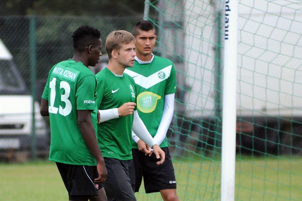 Warta Poznań, trening. Testowani Kolumbijczycy John David Jaramillo i Gustavo Canizales, Artur Marciniak