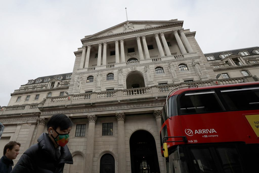 Wielka Brytania, koronawirus i gospodarka. Na zdjęciu Bank Anglii