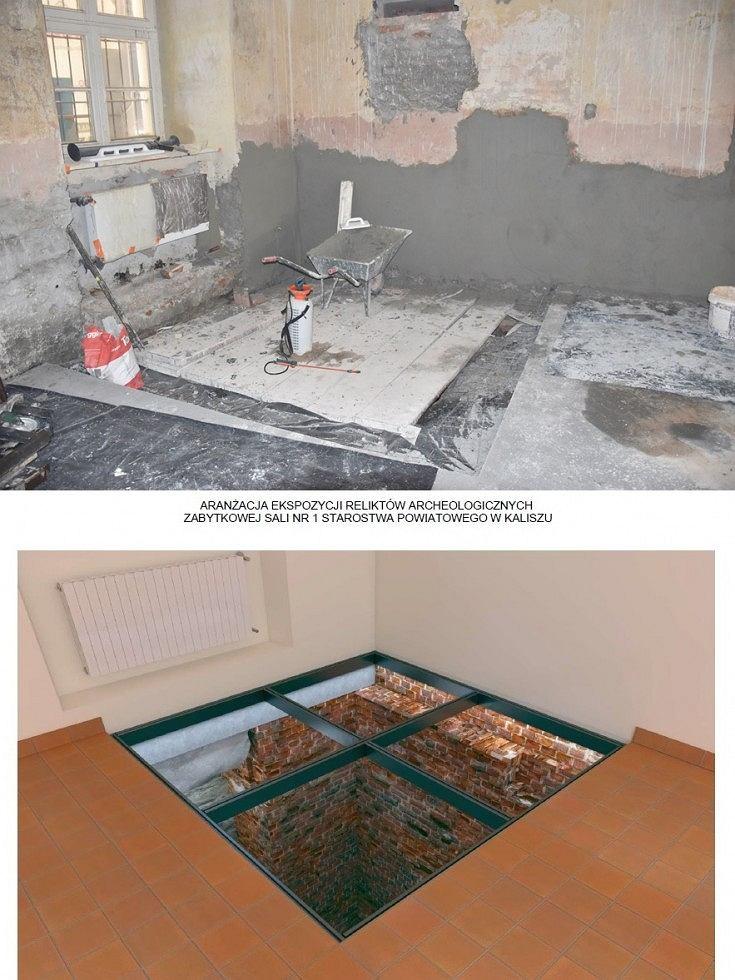 Prace remontowe w Sali Rycerskiej Starostwa Powiatowego w Kaliszu