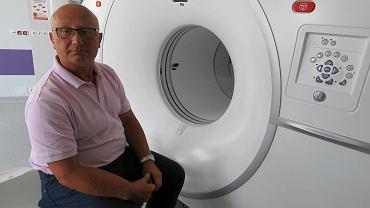 Dr n. med. Piotr Zorga, kierownik Zakładu Medycyny Nuklearnej w gorzowskim szpitalu