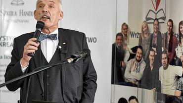 Janusz Korwin-Mikke wystąpił w Wyższej Szkole Handlu i Usług w Poznaniu