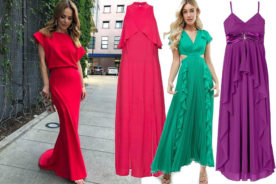 Długa sukienka na wesele - kolory
