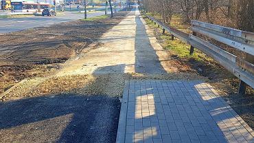 Z powodu planowanej budowy tunelu tramwajowego pod ul. Braci Mieroszewskich w Sosnowcu, firma Silesia-Invest nie wybuduje teraz fragmentu drogi rowerowej na wysokości pętli tramwajowej w Zagórzu