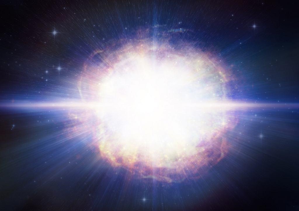 Supernowa SN2016aps na ilustracji (wizja artysty)