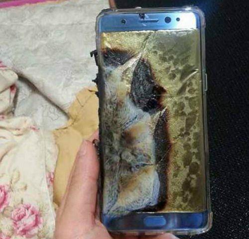Według właściciela ten Galaxy Note 7 został uszkodzony przez wybuchający akumulator