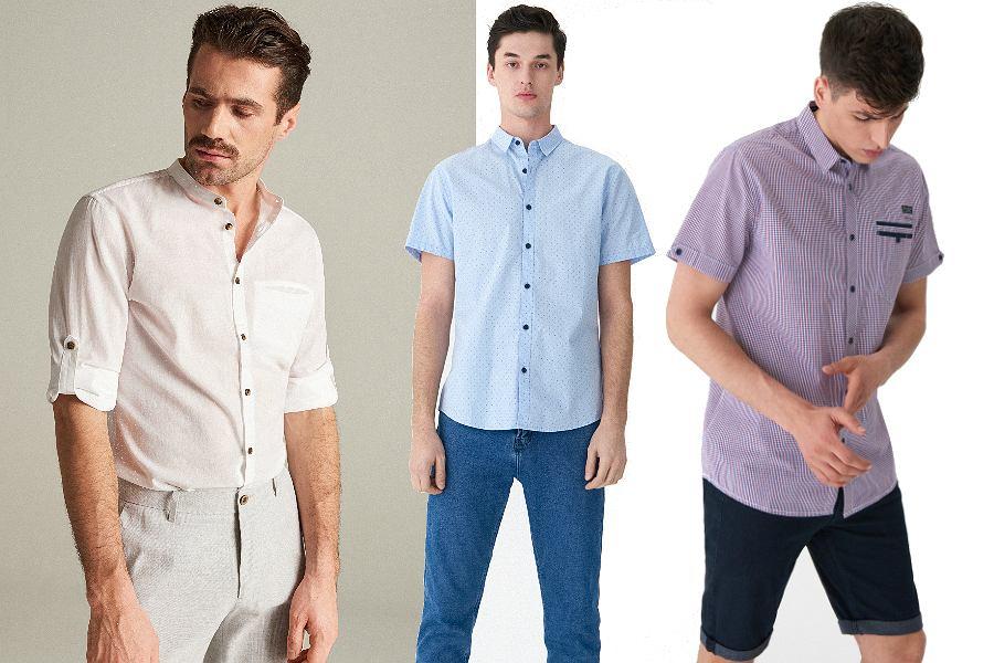 Eleganckie koszule z krótkim rękawem - idealne do pracy!