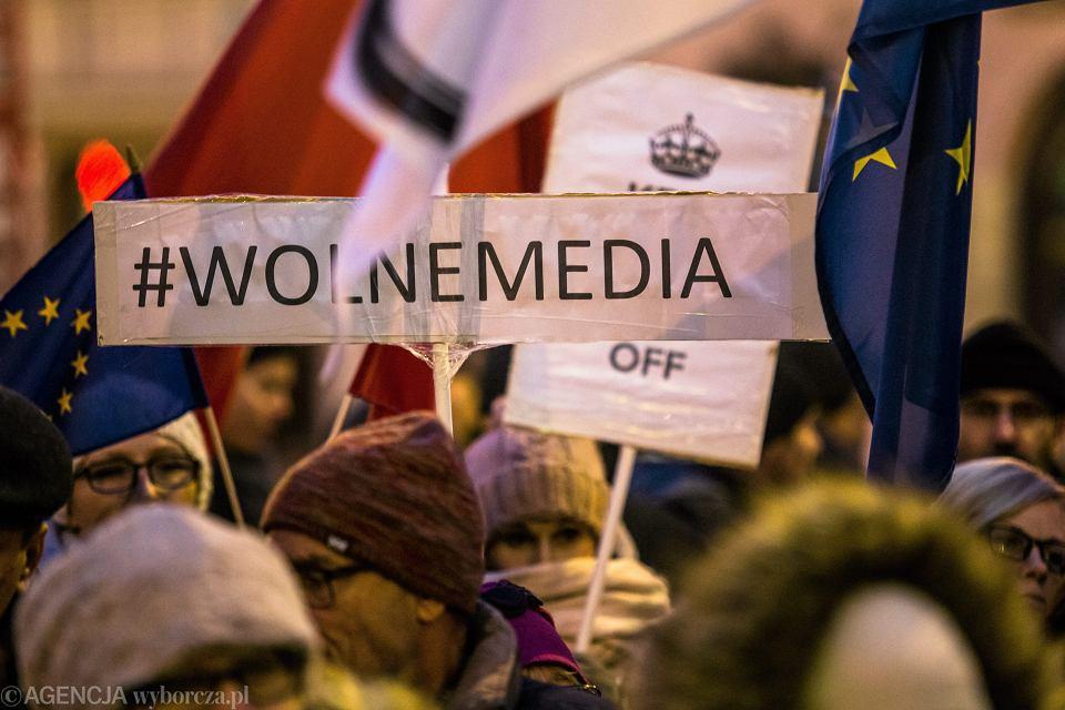 Demonstracja w obronie wolnych mediów, Lublin, 17 grudnia 2016 r.
