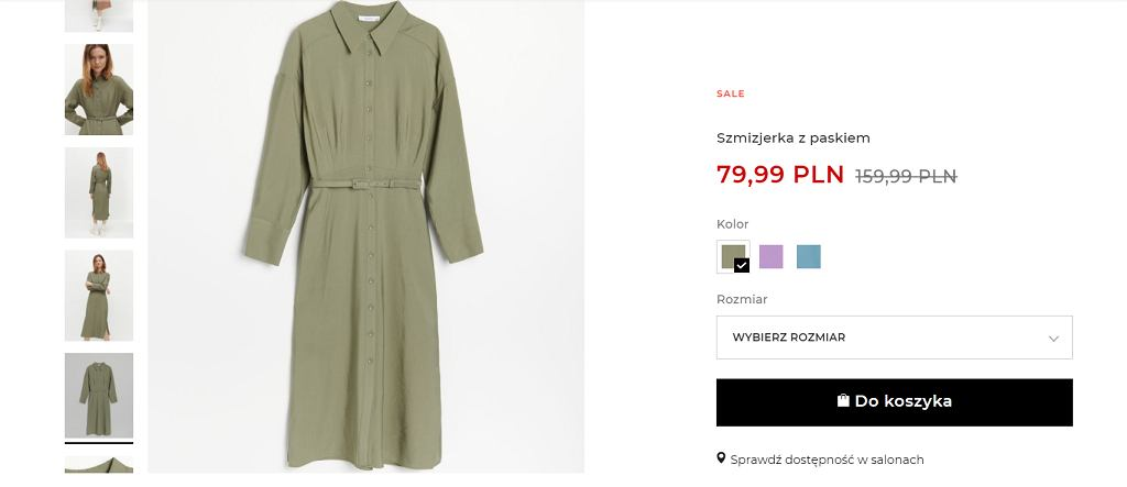Ta sukienka z Reserved to idealny model na wiosnę. Teraz znacznie taniej