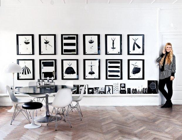 Wnętrza: mieszkanie w Kopenhadze