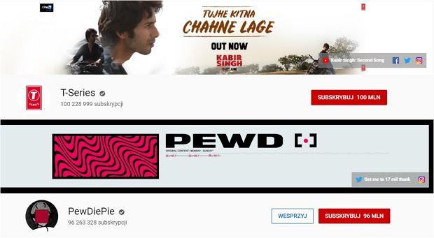 T-Series vs. PewDiePie