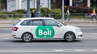 1Warsaw,,Poland,-,May,,2019:,Bolt,Logo,Taxi,Cab,Is