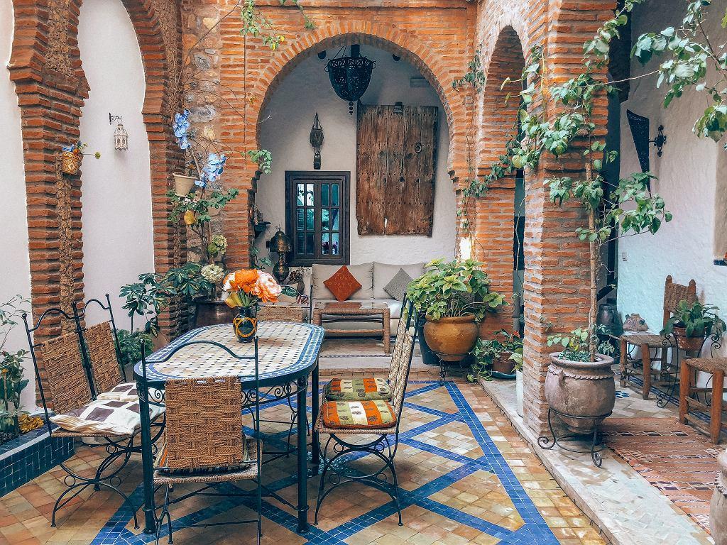 Przykład patio w domu jednorodzinnym