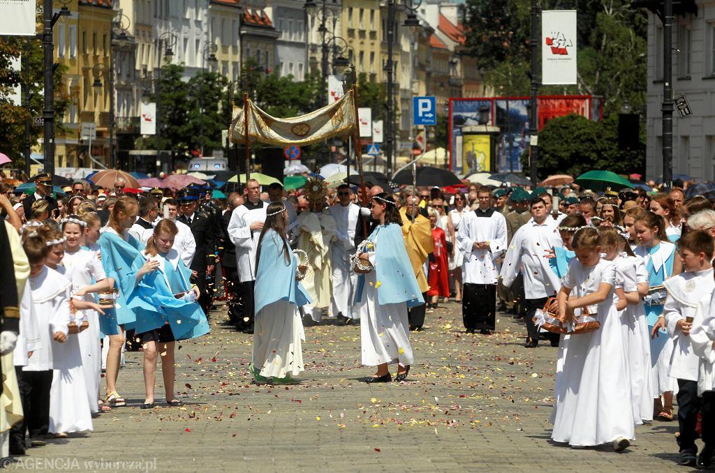 Procesja Bożego Ciała w Warszawie