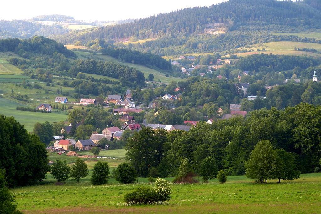Widok na Czernicę i Chrośnickie Kopy