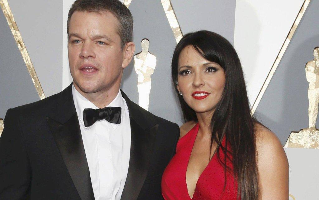Matt Damon z żoną