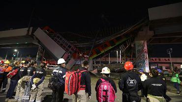 Zawalenie się wiaduktu w Meksyku