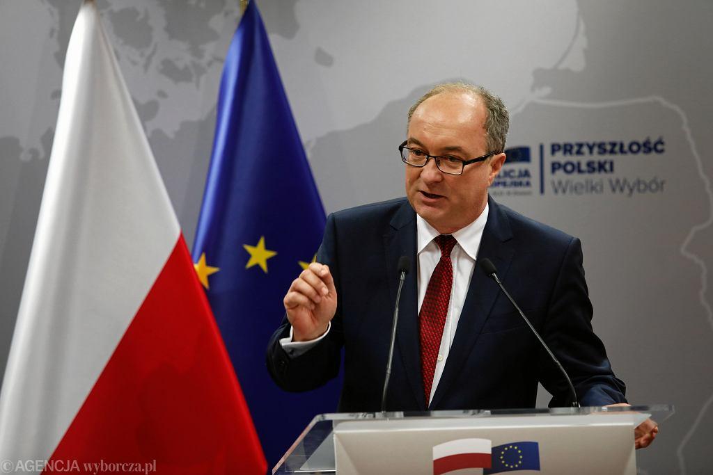 Przewodniczący SLD Włodzimierz Czarzasty,