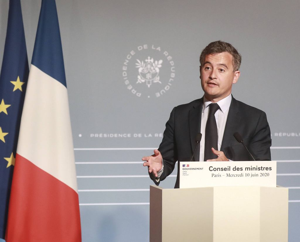Francja: minister ds. wydatków publicznych Gerald Darmanin.