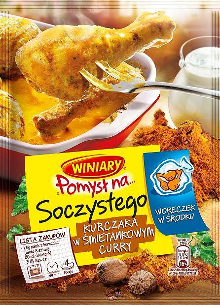 Soczysty kurczak w śmietankowym curry