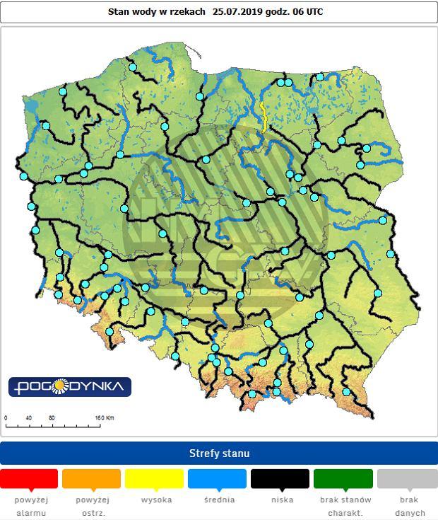 Stan większości polskich rzek jest bardzo niski