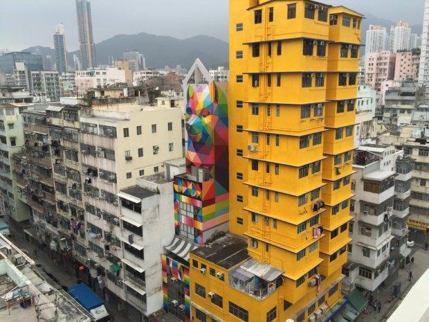 Mural w Hongkongu