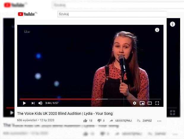 Wielka Brytania. Niewidoma 13-latka zachwyciła jurorów The Voice of Kids