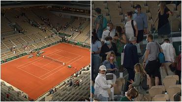 Kibice wychodzą z ćwierćfinału Djokovicia i Berrentiniego na Roland Garros