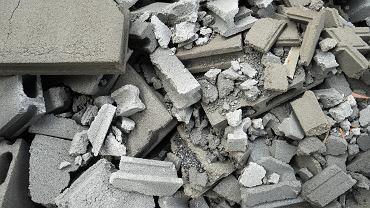Odpady budowlane, zdjęcie ilustracyjne.