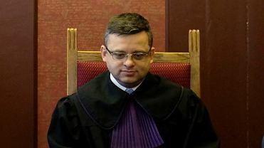 Sędzia Arkadiusz Cichocki podczas procesu Wojciecha B., byłego szefa Towarzystwa Finansowego Silesia.