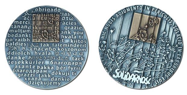 Projekt Medalu Wdzięczności